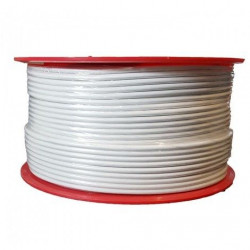 CABLES COAXIAL 250M BLANC