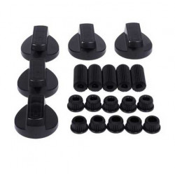 KIT 5 BOUTONS NOIRS UNIVERSELS