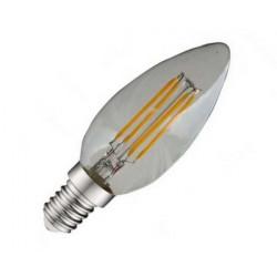 AMPOULE LED FIL FLAMME E14 4W